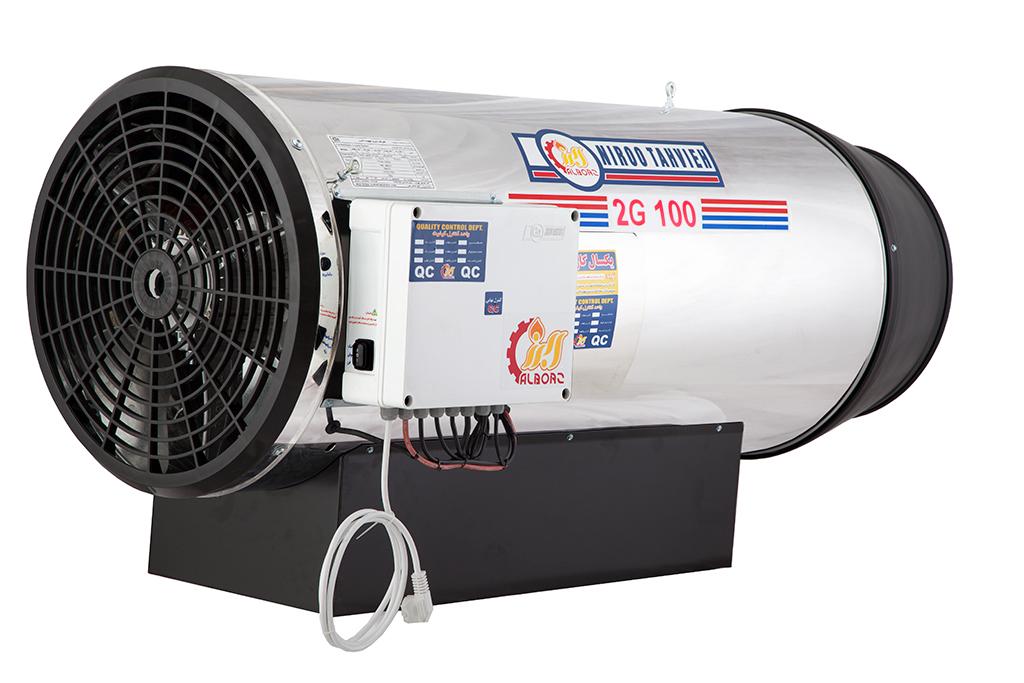 جت هیتر دوموتوره گازی البرز مدل 2G-100
